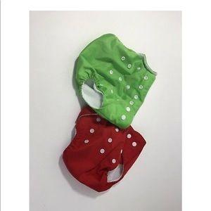 Cloth Diaper Lot Of 2 Qianqunui Cloth Pocket